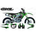 Kit déco Kawasaki 250-450KXF 2013 Factory Team Dash Kit Déco Kawasaki Standard