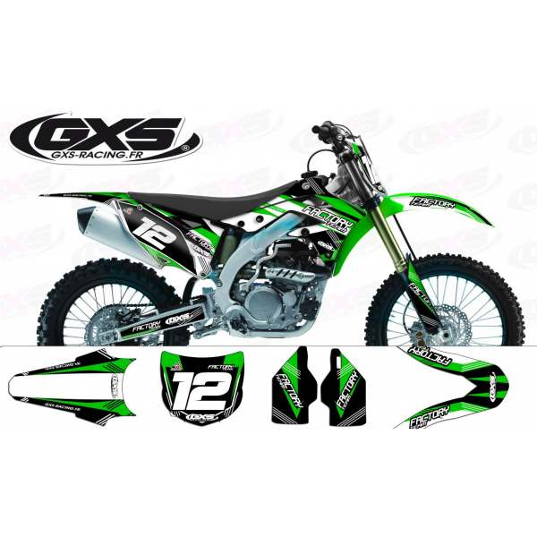 Kit déco Kawasaki 250-450KXF 2013  Factory Team Dash