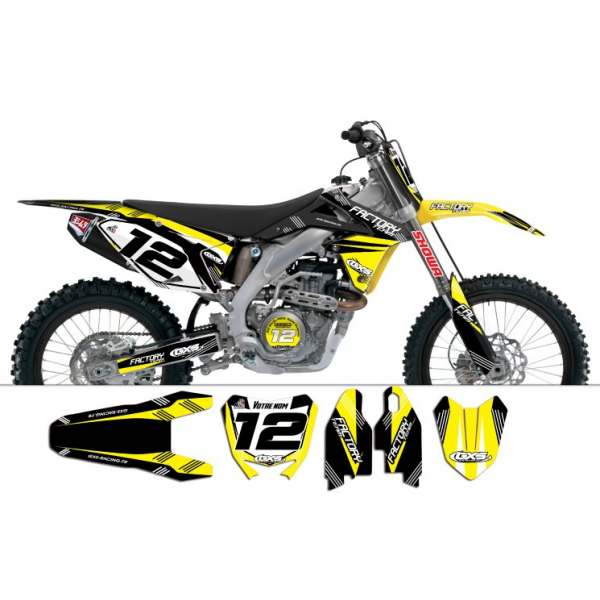 Kit déco Suzuki RMZ450 2008-2012 Factory Team Dash