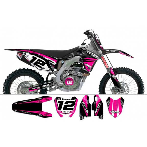 Kit déco Suzuki RMZ450 2008-2012 Factory Team Dash