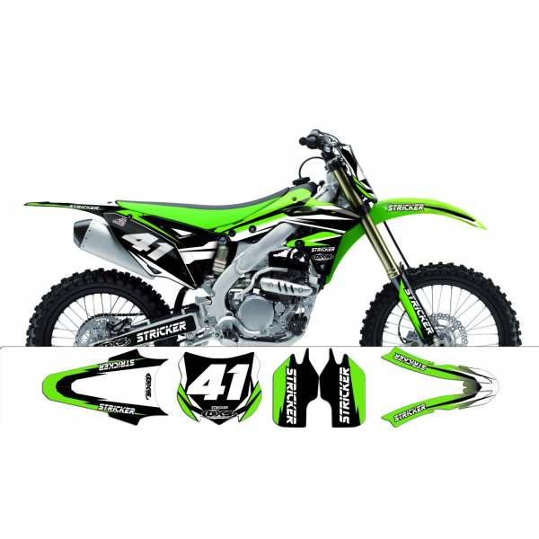 Kit déco Kawasaki 250 KXF 2013 STRICKER