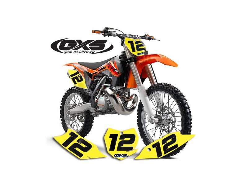 Fonds de Plaque 50cc, 65cc, 85cc Pitbike COLORS